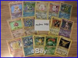 Pokemon card 1st edition base set 14 holo lot nr complete set Blastoise Venusaur