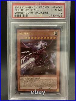 Psa 10 Slifer The Sky Dragon 2012 Jump-en061 Yu-gi-oh! Gem Mint Limited Edition