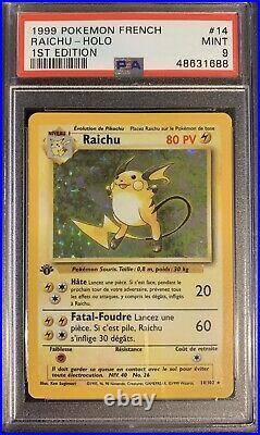 Raichu PSA 9 Edition 1 Set De Base 14/102 Holo Rare PSA BGS PCA 1999