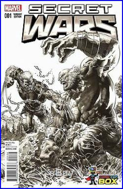 Secret Wars 1 Ultra Rare Mike Deodato Wizard Sketch Variant Nm In Stock