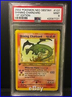 Shining Charizard 1st Edition PSA 9 Mint Neo Destiny Set 107/105
