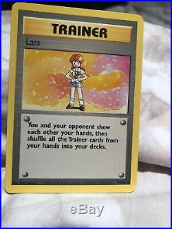 Single Pokemon Card Trainer Lass 1995 Edition Base Set Non-Holo Rare #75/102
