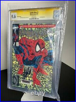 Spider-Man #1 SIGNED BY STAN LEE! Platinum Edition 9.6 CGC ULTRA RARE HOT SS