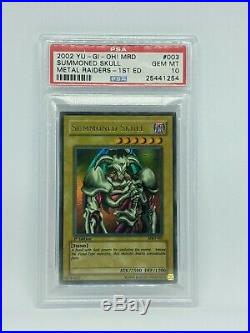 Summoned Skull 1st Edition MRD-003 PSA 10 Gem Mint NA Slight Faded Yu-Gi-Oh Card