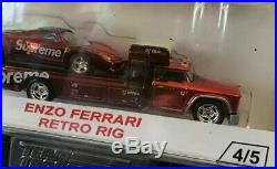 Supreme Hot Wheels Enzo Ferrari Hauler Limited Edition Ultra Rare Amazing! 4/5