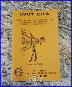 TSR Boot Hill 1st Edition 1975 Ultra Rare Very nice condition FREE SHIPPING