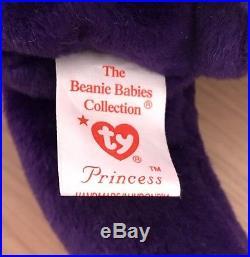 Ty Princess Diana Beanie Baby 1st Edition P. E Pellets Ultra Rare 1997