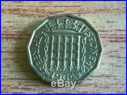 ULTRA RARE 1964 3 Pence Coin UK LIMITED EDITION