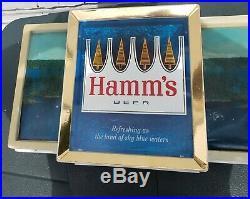 ULTRA RARE HAMM'S 60s PANORAMIC Lighted Beer Sign ORIGINAL WEST COAST VERSION