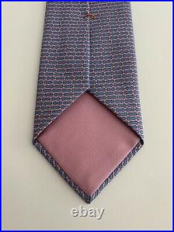 ULTRA RARE Hermes Paris Tie Limited Edition Skateboard Blue/Pink 645848 IA
