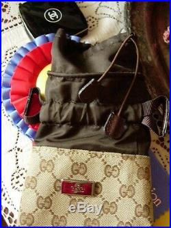 Ultra RARE Limited Edition GUCCI Brown GG Monogram Bottle Holder Keeper Case FAB