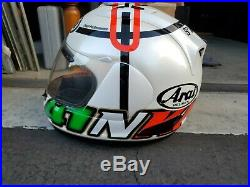Ultra Rare Arai RX-7 Corsair Special Edition Haga Monza II Motorcycle Helmet