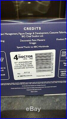Ultra Rare Artist Proof Big Chief Doctor Who Tom Baker Signature Edition Fourth