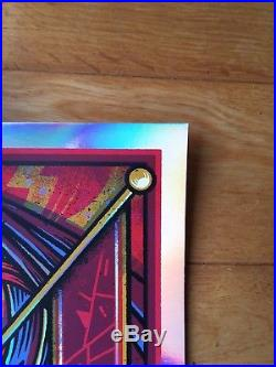 Ultra Rare Foo Fighters Limited Edition London Event FOIL Poster MISPRINT 40/40