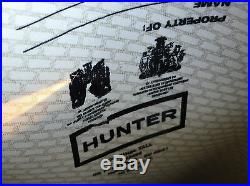 Ultra Rare Hunter Limited Edition Hunter Character Logo Rubber Rain Boots Black