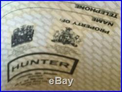 Ultra Rare Hunter Limited Edition Hunter Character Logo Rubber Rain Boots White