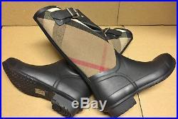Ultra Rare Limited Edition Burberry Birkback Mid Rubber Rain Boots EU36 US6 NWB
