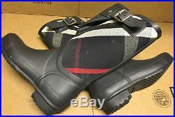 Ultra Rare Limited Edition Burberry Birkback Mid Rubber Rain Boots US7 EU37 New