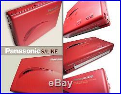 Ultra Rare Panasonic Walkman RQ-S20 RED EDITION. Velvet Feel & Beautiful Lines