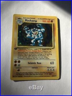 Ultra Rare Pokemon Card Shiny Machamp 1st Edition Base Set/ First Generation