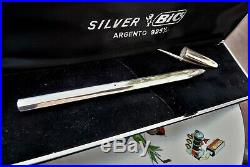 Vintage 1975 Ultra Rare Bic Sterling Silver Ballpoint Limited Edition With Box