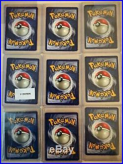 Vintage 1999 Complete Pokemon Base Set (21 x 1st Edition &/or Shadowless) holo