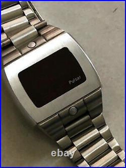 Vintage Pulsar P5 Sport LED Watch Ultra Rare Logo On Screen Version