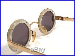 Vintage Ultra Rare Christian Dior 2918 Gold Round Limited Edition Sunglasses
