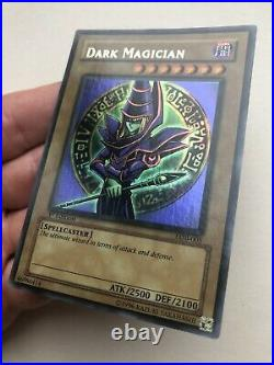 Wavy Dark Magician Lob-005 1st Edition Yugioh Legend Of Blue Eyes Ultra Rare