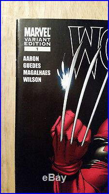 Wolverine 1 Deadpool Variant Scott Campbell Ultra Rare Gold Signature Stan Lee