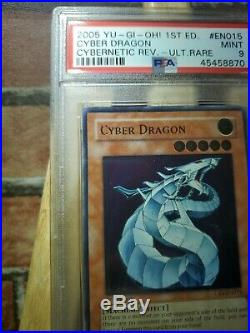 YUGIOH PSA9 CYBER DRAGON CRV-EN015 ULTIMATE RARE 1st Edition