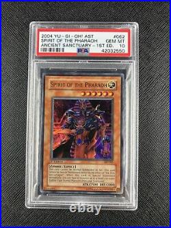 YUGIOH PSA 10 1st Edition Spirit of The Pharaoh AST-062 Gem Mint Ultra Rare 2004