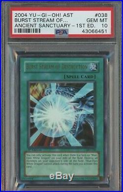 YuGiOh Burst Stream of Destruction 1st Edition PSA 10 GEM MINT AST-038 Ultra Rar