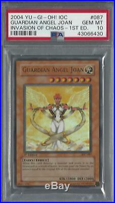 YuGiOh Guardian Angel Joan Ultra Rare 1st Edition Graded PSA 10 GEM MINT IOC-087