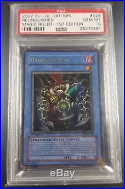 YuGiOh PSA 10 Relinquished! MRL-029 Magic Ruler 1st edition Ultra Rare