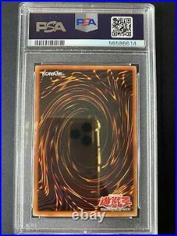 YuGiOh PSA 8 NM MT LOB-005 1st Edition Ultra Rare Dark Magician ASIAN ENGLISH