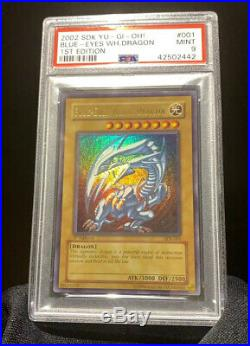 Yu-Gi-Oh! 1st Edition Blue-Eyes White Dragon SDK-001 PSA 9 Mint Ultra Rare