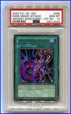 Yu-Gi-Oh 1st Edition Dark Magician Attack AST-095 Ultra Ancient Sanctuary PSA 10