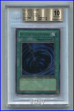 Yu-Gi-Oh 1st Edition Magic Ruler Mystical Space Typhoon MRL-047 BGS 10 PRISTINE