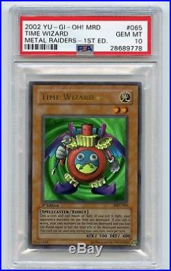 Yu-Gi-Oh! 1st Edition Time Wizard MRD-065 Ultra Rare Metal Raiders PSA 10 MINT