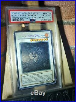 Yu-Gi-Oh! Black Rose Dragon CSOC-EN039 Ghost Rare 1st Edition PSA 6