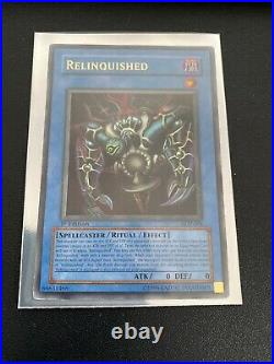 Yu-Gi-Oh Card Relinquished SDP-001 Ultra Rare 1st Edition