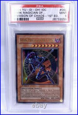 Yu-Gi-Oh! Dark Magician of Chaos IOC-065 2004 1st Edition PSA 9 MINT
