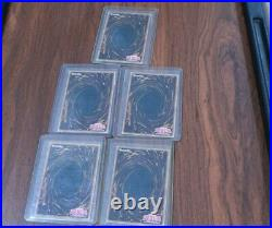 Yu-Gi-Oh LOB 1st Edition Exodia The Forbidden One #LOB-124 1st Edition ALL 5