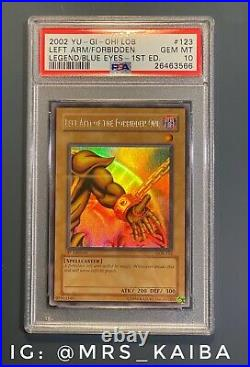 Yu-Gi-Oh Left Arm Of The Forbidden One Exodia LOB-123 1st Edition PSA 10 Gem
