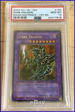 Yu-Gi-Oh! Magician's Force 1st Edition Dark Paladin MFC-105 Corrected Art PSA 10