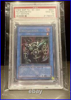 Yu-Gi-Oh! PSA 10 Relinquished 1st Edition SDP-001 Ultra Rare