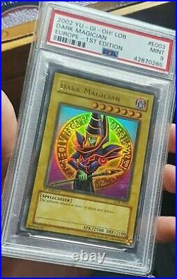 Yu-Gi-Oh PSA 9 1st Edition Dark Magician LOB-E003 POP 6