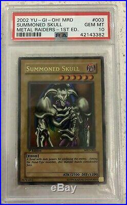 Yugioh 1st Edition MRD 003 Summoned Skull PSA 10 GEM MINT