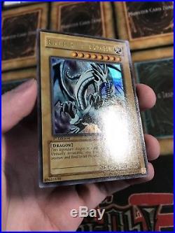 Yugioh Blue-Eyes White Dragon LOB-001 Ultra Rare 1ST EDITION M/NM